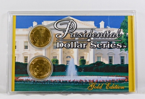 2007-P & D George Washington Commemorative Presidential $1*24K Gold Layered in Case