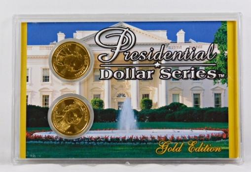 2007-P & D John Adams Commemorative Presidential $1*24K Gold Layered in Case