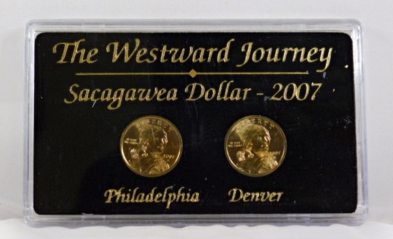 2007-P & D Sacagawea Dollars*Uncirculated in Protective Display Case