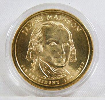 2007-P James Madison Commemorative Presidential Dollar - Uncirculated in Original Capsule