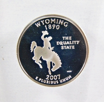 2007-S Silver Proof Wyoming State Commemorative Quarter*DCAM