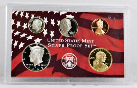 2007-S United States Mint Silver Proof Set - No Box Available but in the Original Mint Holder