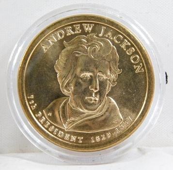 2008-D Brilliant Uncirculated Andrew Jackson Presidential Commemorative Dollar - In Protective Capsule