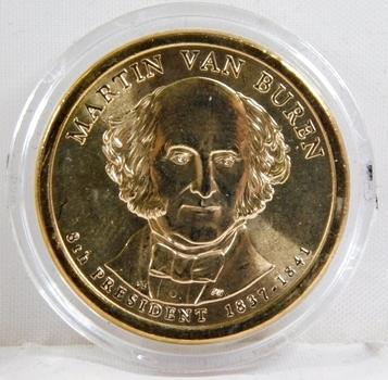 2008-D Brilliant Uncirculated Martin Van Buren Presidential Commemorative Dollar - In Protective Capsule