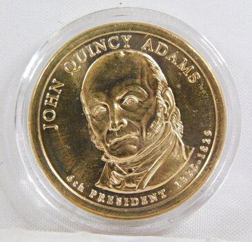 2008-D John Quincy Adams Commemorative Presidential Dollar - Uncirculated in Original Capsule