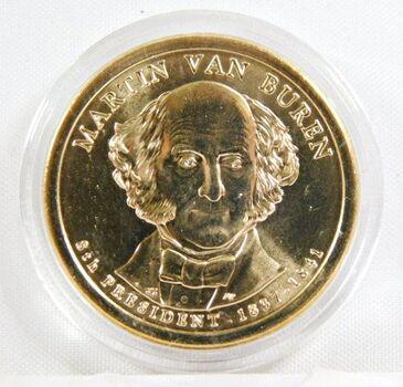 2008-D Martin Van Buren Commemorative Presidential Dollar - Uncirculated in Original Capsule