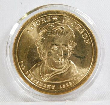 2008-P Andrew Jackson Commemorative Presidential Dollar - Uncirculated in Original Capsule