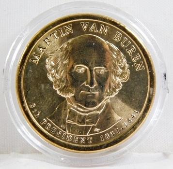 2008-P Brilliant Uncirculated Martin Van Buren Presidential Commemorative Dollar - In Protective Capsule