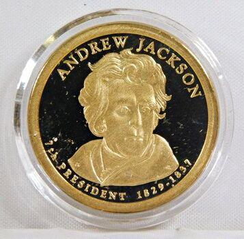 2008-S Andrew Jackson Proof Commemorative Presidential Dollar - Uncirculated in Original Capsule