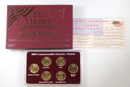 2009 Commemorative Quarters Uncirculated Denver 6 Coins