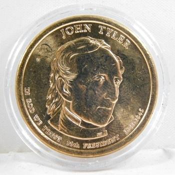 2009-D Brilliant Uncirculated John Tyler Presidential Commemorative Dollar - In Protective Capsule
