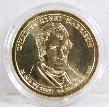 2009-D Brilliant Uncirculated William Henry Harrison Presidential Commemorative Dollar - In Protective Capsule