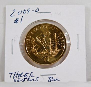 2009-D Sacagawea 1 Dollar Uncirculated Coin Three Sisters