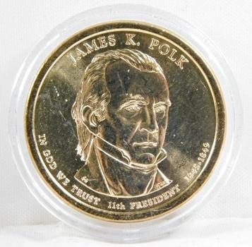 2009-P Brilliant Uncirculated James K. Polk Presidential Commemorative Dollar - In Protective Capsule
