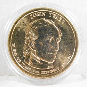2009-P Brilliant Uncirculated John Tyler Presidential Commemorative Dollar - In Protective Capsule