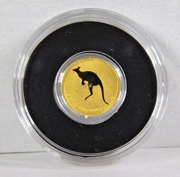 2010 Australia $2 Gold Kangaroo*0.5 Gram .9999 Fine Gold