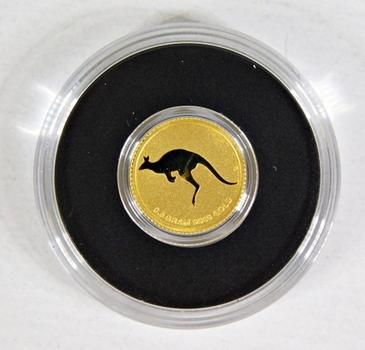 2010 Australia $2 Gold Kangaroo*0.5 Grams .9999 Fine Gold*In Protective Capsule