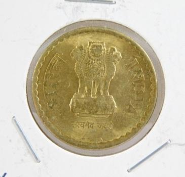 2010 India 5 Rupees - Brilliant Uncirculated