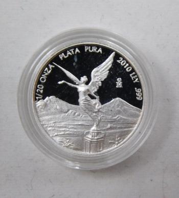 2010 Mexico 1/20 oz Proof Silver Onza