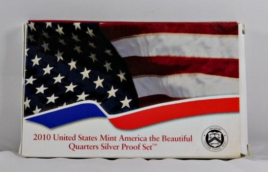 2010 United States Mint America the Beautiful Quarter Silver Proof Set - Original Mint Packaging