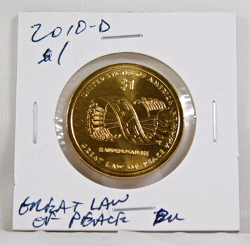 2010-D Sacagawea 1 Dollar Uncirculated Coin Great Law Of Peace