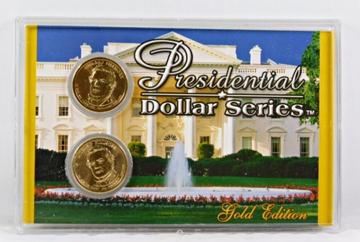 2010-P & D Millard Fillmore Presidential $1*24K Gold Layered in Nice Custom Case