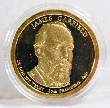 2011-S Proof James Garfield Presidential Commemorative Dollar - In Protective Capsule