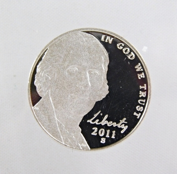 2011-S Proof Jefferson Nickel w/Deep Mirrors and Cameos