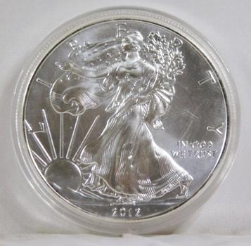 2012 American Silver Eagle*1oz .999 Fine Silver*In Protective Capsule