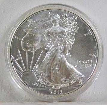 2012 American Silver Eagle*Uncirculated in Protective Capsule*1oz .999 Fine Silver