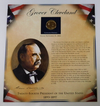 2012 Grover Cleveland Presidential Dollar With Portrait