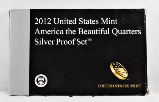 2012 United States Mint America the Beautiful Quarter Silver Proof Set - Original Mint Packaging