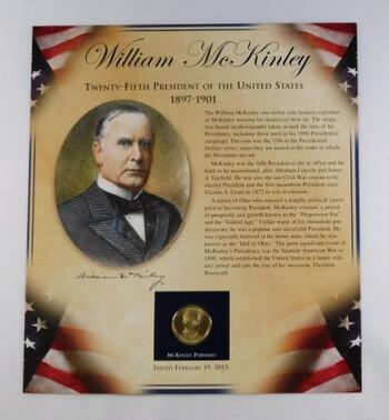 2013 William McKinley Presidential Dollar With Portrait
