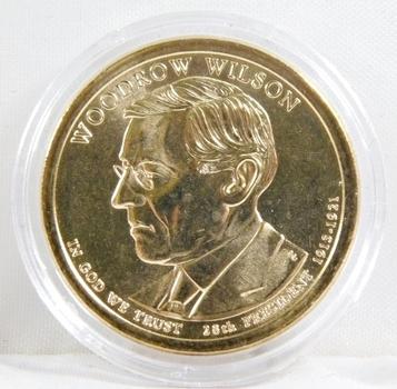 2013-P Brilliant Uncirculated Woodrow Wilson Presidential Commemorative Dollar - In Protective Capsule
