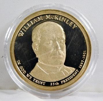 2013-S Proof William McKinley Presidential Commemorative Dollar - In Protective Capsule