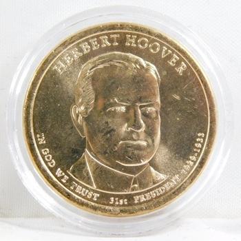 2014-P Brilliant Uncirculated Herbert Hoover Presidential Commemorative Dollar - In Protective Capsule