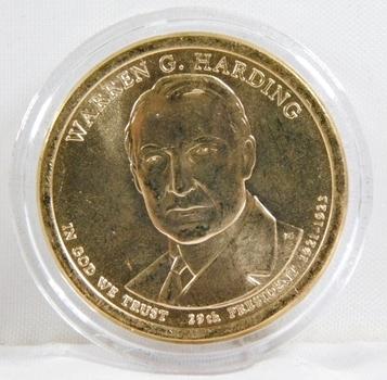 2014-P Brilliant Uncirculated Warren G. Harding Presidential Commemorative Dollar - In Protective Capsule