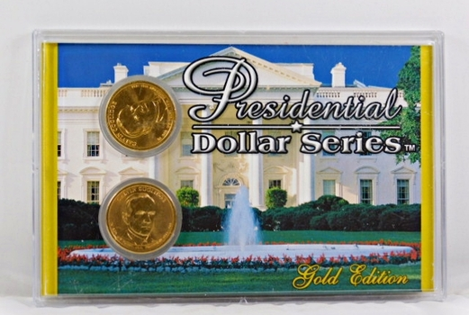 2014-P & D Calvin Coolidge Presidential $1*24K Gold Layered in Nice Custom Case