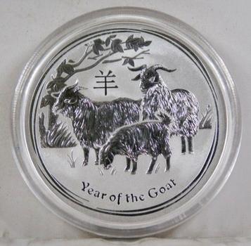 2015 Australia $2 Year of the Goat*2 oz .999 Fine Silver*In Protective Capsule