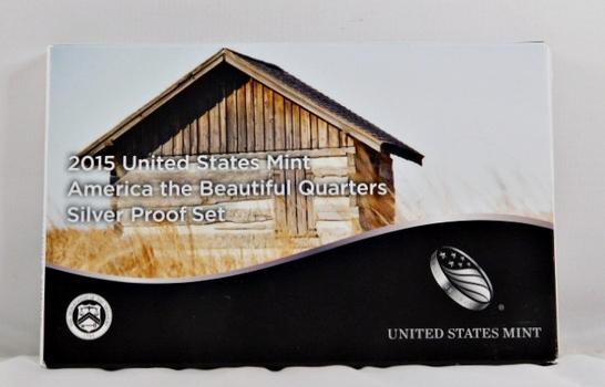 2015 United States Mint America the Beautiful Quarter Silver Proof Set - Original Mint Packaging
