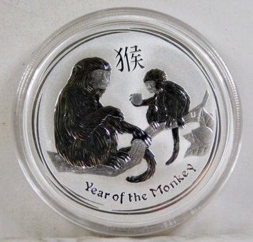 2016 Australia $2 Year of the Monkey*2 oz .999 Fine Silver*In Protective Capsule