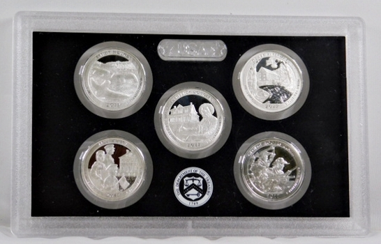 2017-S America the Beautiful Commemorative Silver Proof Quarters - No Box Available but in Original Mint Holder