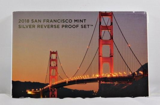 2018 San Francisco Mint 50th Anniversary Silver Reverse Proof Set - STUNNING SET!! - Original Mint Packaging