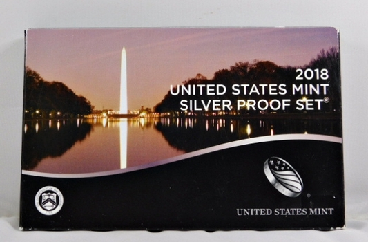 2018 United States Mint Silver Proof Set with National Park Quarters in Original Mint Packaging