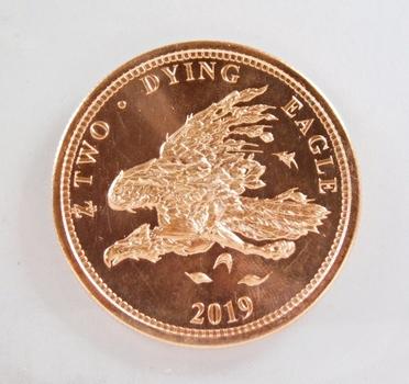 2019 Two Zombucks*Dying Eagle*1 oz .999 Fine Copper Round