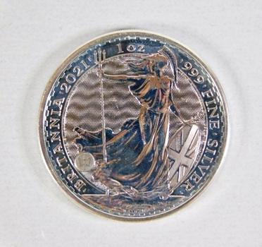 2021 Britannia 2 Pounds*1oz .999 Fine Proof Silver