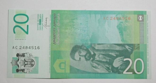 (3) Crisp Unc Banknotes:2013 Serbia 10 & 20 Dinars*1998 Romania 1000 Leu