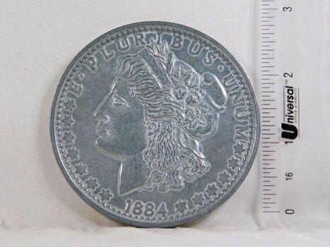 "3"" Oversized Metal Replica of a Morgan Silver Dollar"