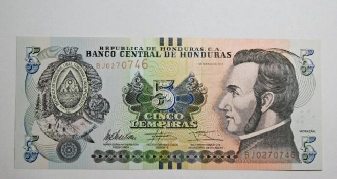 (3)2012 Honduras 5 Lempiras*1984 Bolivia 5000 Pesos & 10000 Pesos*All Crisp Unc