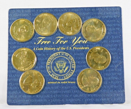 8 President Brass Medals In Mint Packaging